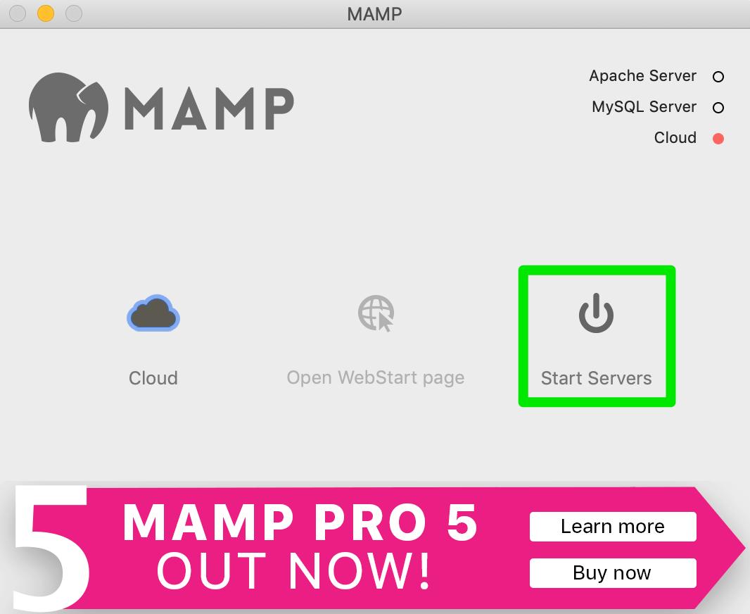 MAMP本機伺服器 - Start Servers