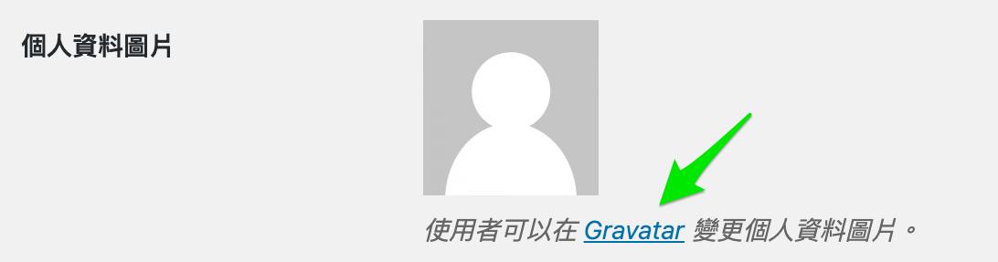 使用者可以在 Gravatar 變更個人資料圖片